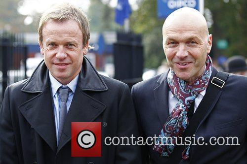 Tim Lovejoy and Simon Rimmer Celebrities attend Ascot's...