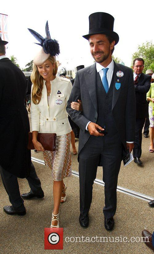 Florence Brudenell-Bruce with a friend Royal Ascot at...