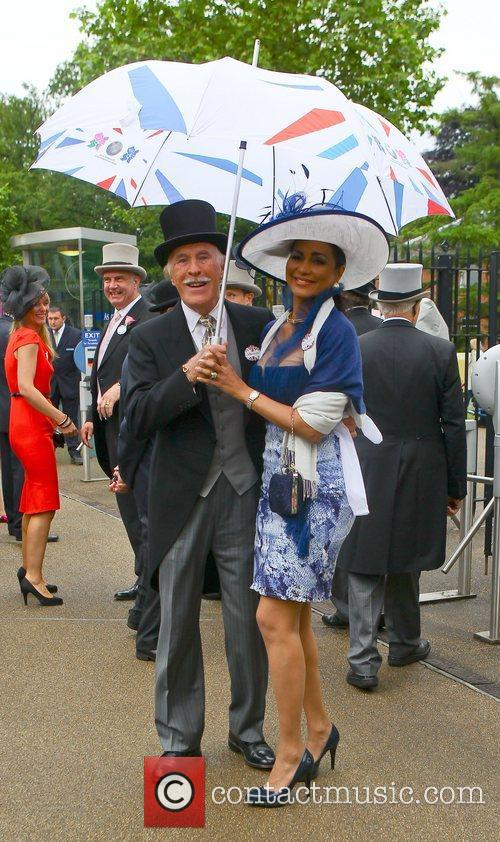 Sir Bruce Forsyth and his wife Wilnelia Merced...