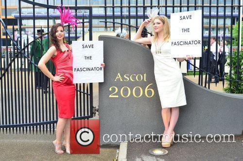 High Street retailer Debenhams protest outside Ascot Racecourse...