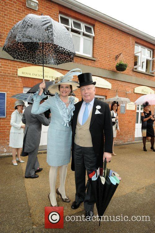 Julian Fellowes and guest Royal Ascot at Ascot...