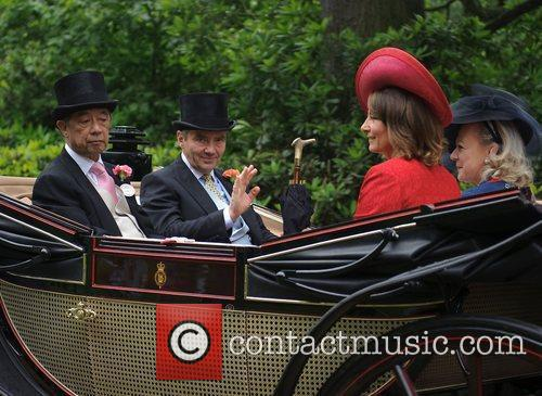 Michael Middleton, Carole Middleton Royal Ascot at Ascot...