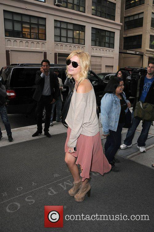 Ashley Benson at her hotel in Soho.