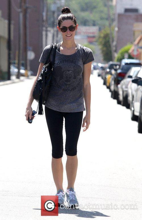 Ashley Greene leaves a gym in Studio City...