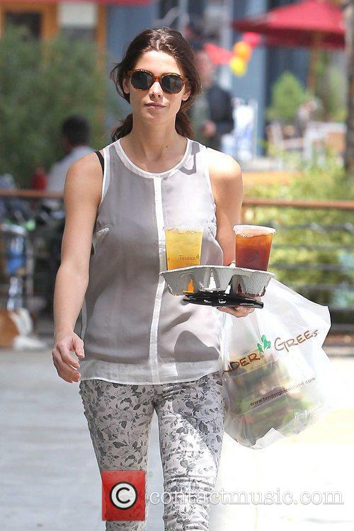 Ashley Greene grabs some lunch while out and...