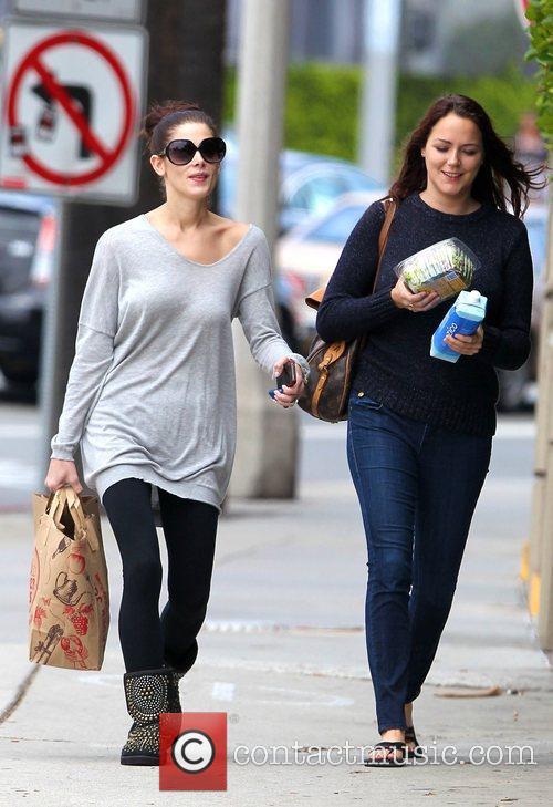 Ashley Greene leaves Trader Joe's grocery store in...