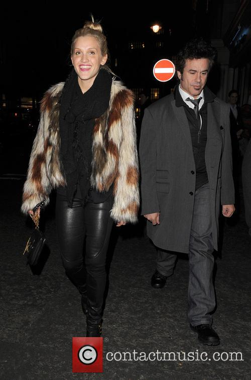 Ashley Roberts arrives at Nobu restaurant with a...