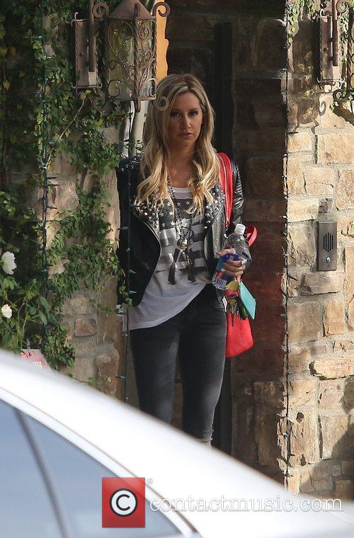 ashley tisdale seen exiting starbucks with a 5963953