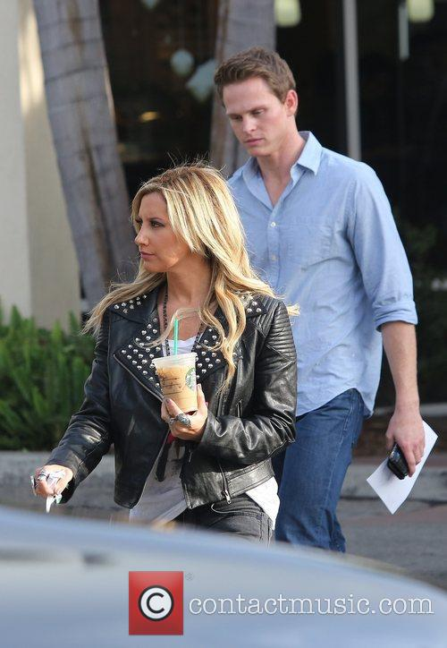 ashley tisdale seen exiting starbucks with a 5963968