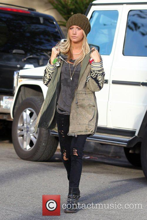 Ashley Tisdale  grabs some coffee from Urth...