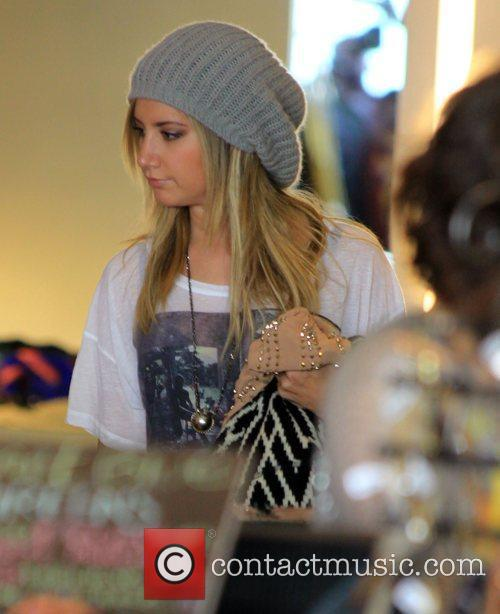 Ashley Tisdale shops in Beverly Hills Los Angeles,...