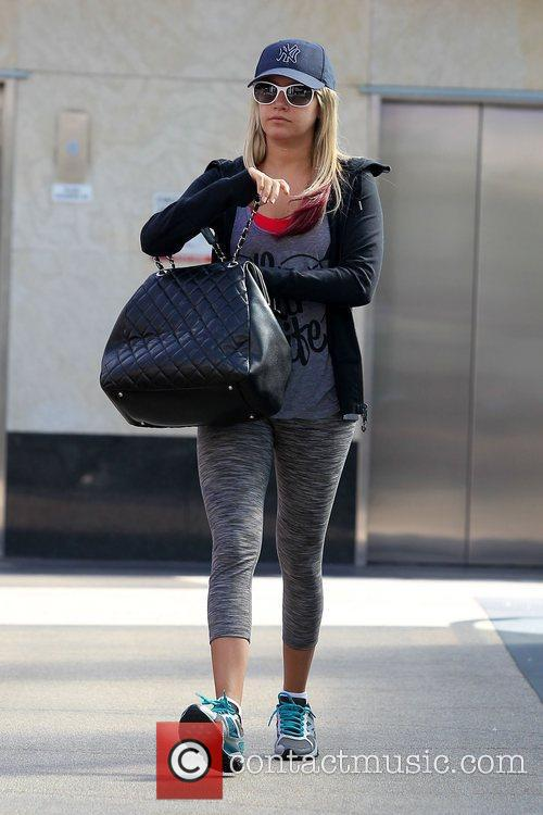 On her way to the gym in west...