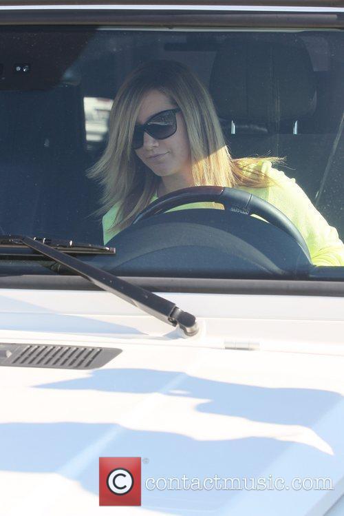 Ashley Tisdale leaving Byron & Tracey hair salon...