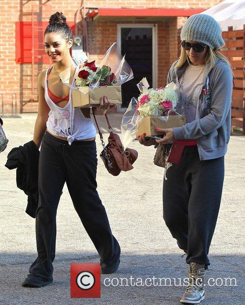 Ashley Tisdale and Vanessa Hudgens leaving a Dance...