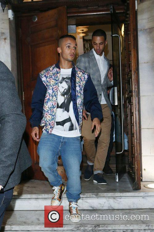 Aston Merrygold and Marvin Humes of JLS...