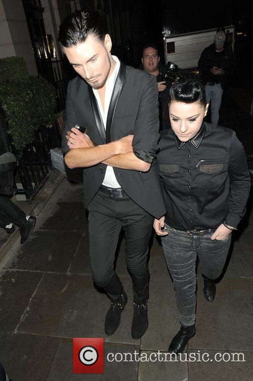 Rylan Clark and Lucy Spraggan at Attitude Magazine...