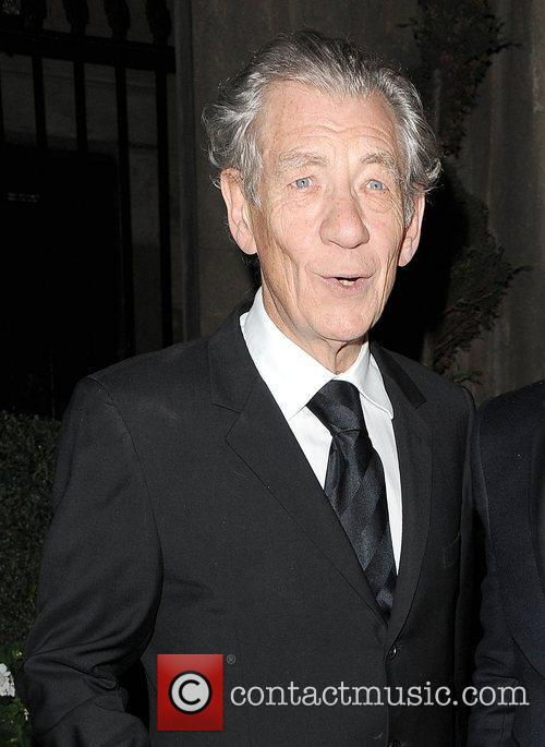 Sir Ian McKellen leaving the Attitude Magazine Awards...