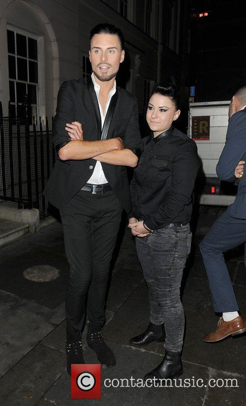 X Factor contestants Rylan Clark and Lucy Spraggan,...