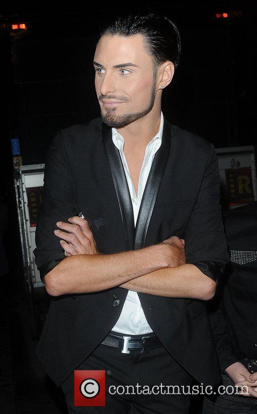Rylan Clark  leaving the Attitude Magazine Awards...