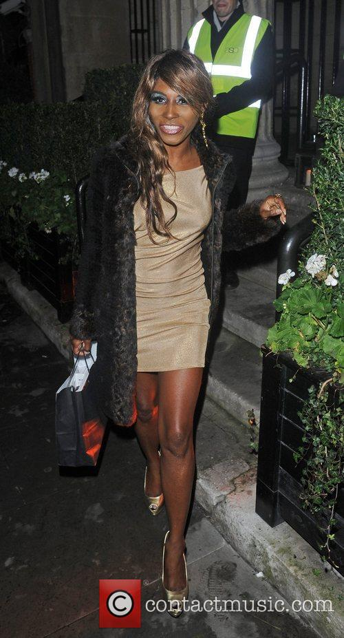 Sinitta Renet Malone leaving the Attitude Magazine Awards...