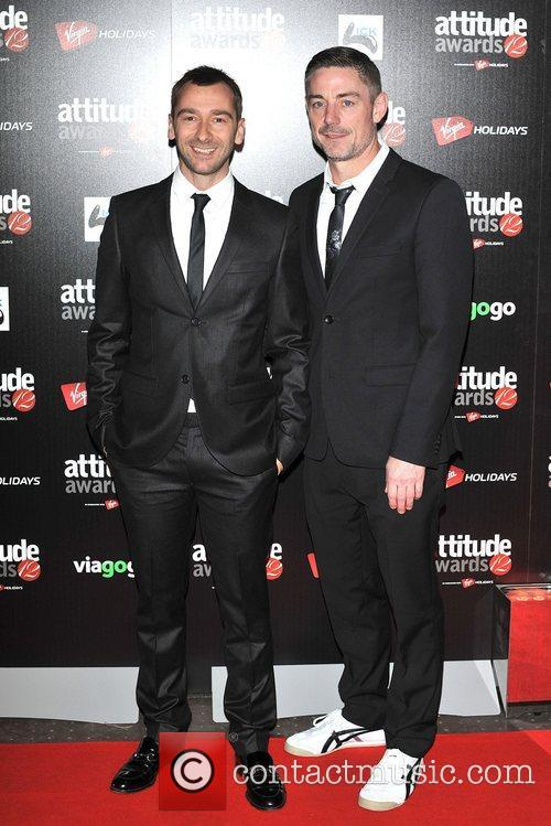 Charlie Condou and guest Attitude Magazine Awards held...