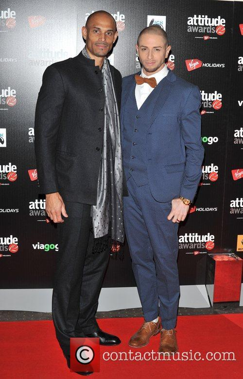 Brian Friedman and guest Attitude Magazine Awards held...