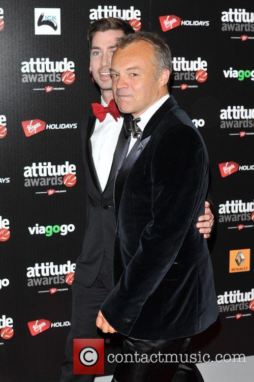 Graham Norton and guest Attitude Magazine Awards held...
