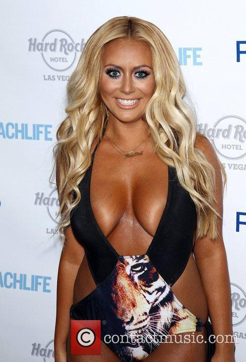 Television personality Aubrey O'Day arrives for 'Rehab' Sundays...