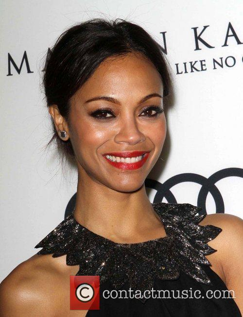 Zoe Saldana and Golden Globe 4