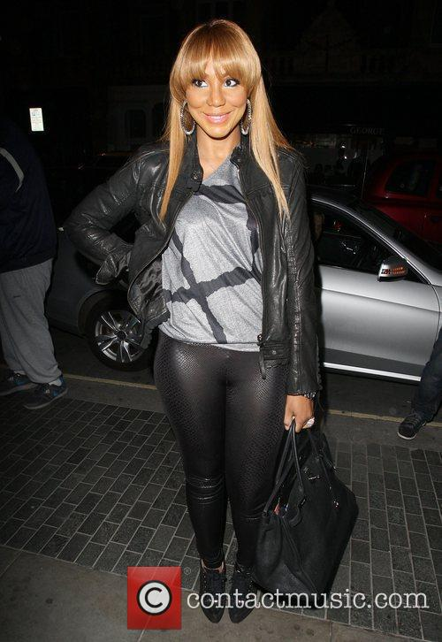 Toni Braxton arriving at the Audley Pub in...