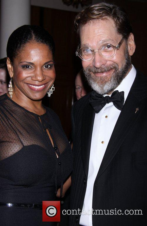 Audra McDonald and David Staller  attending the...