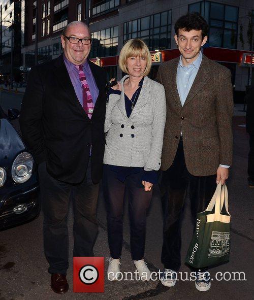 Paul McGuinness, wife Kathy Gilfinnan and Max McGuinness...