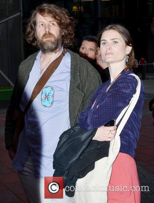 Liam O'Maonlai and Guest at the public Dublin...