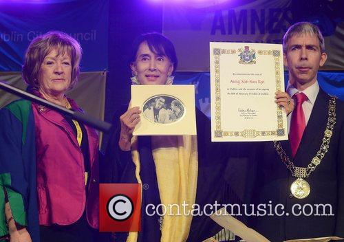 Mary Freehill, Aung San Suu Kyi, Andrew Montague...