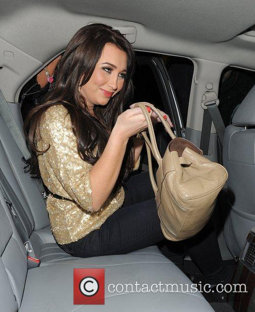 Lauren Goodger leaving Aura nightclub.