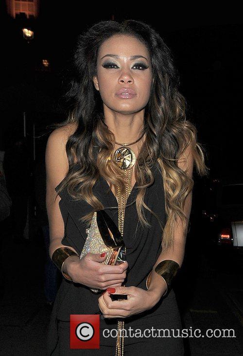 Layla Flaherty leaving Aura nightclub.