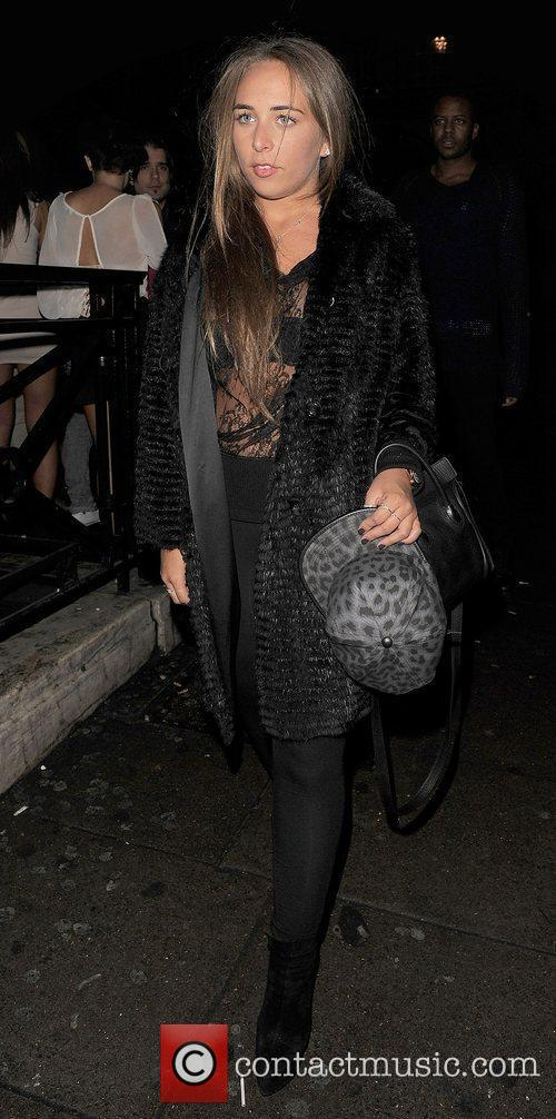 Chloe Green leaving Aura nightclub. London, England