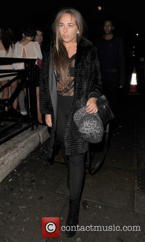 Chloe Green leaving Aura nightclub.