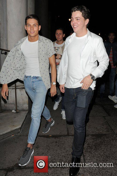 Joey Essex and James Diags Bennewith enjoy a...