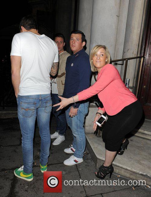 Mario Falcone enjoys a night out at Aura...