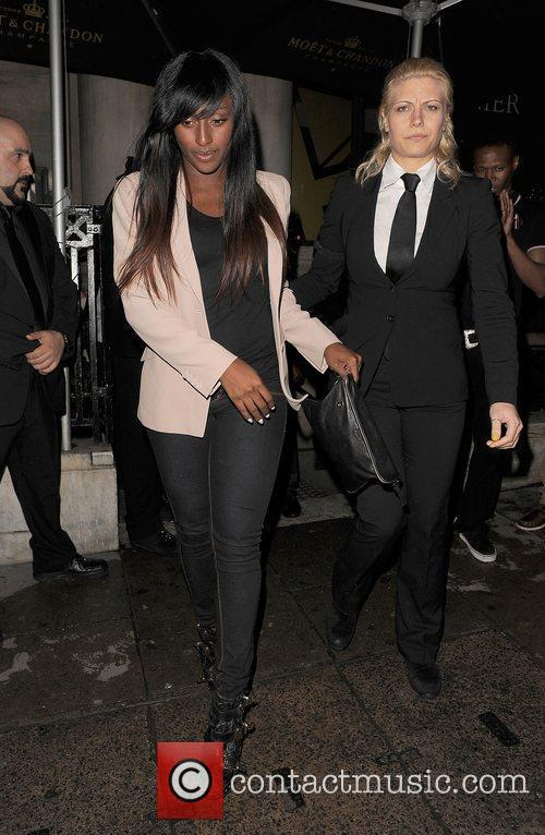 Alexandra Burke leaving Aura nightclub at 3.45am. London,...