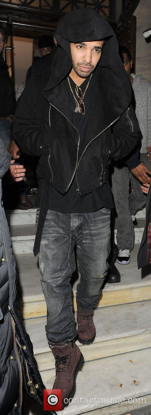 Drake leaving Aura nightclub. London, England