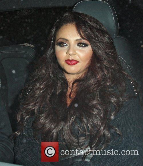 Jesy Nelson driving past Aura nightclub London, England