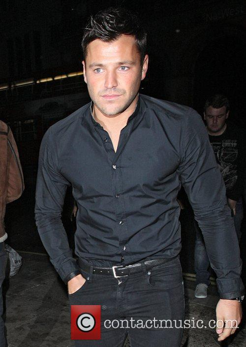 Mark Wright arriving at Aura nightclub