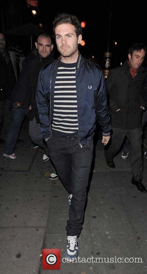 Chelsea FC footballer Juan Mata, leaving Aura nightclub...