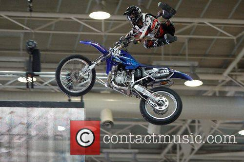 Dirtbike stunt riding show Sexpo, the health, sexuality...