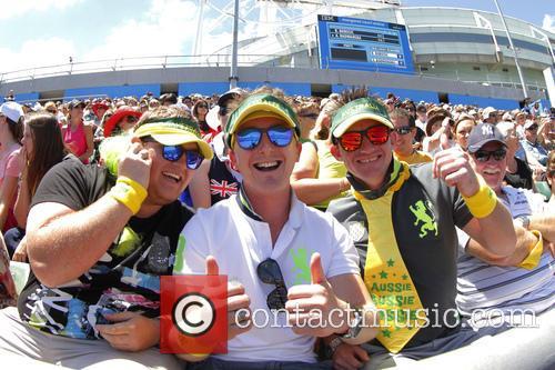 Atmosphere; Fans Australian Open Tennis 2013 - Rod...