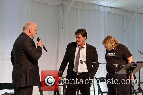 Charlie Sheen Celebrities appear and perform at a...