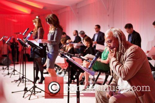 Dave Fennoy Celebrities appear and perform at a...