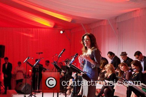 Mary McDonnell Celebrities appear and perform at a...